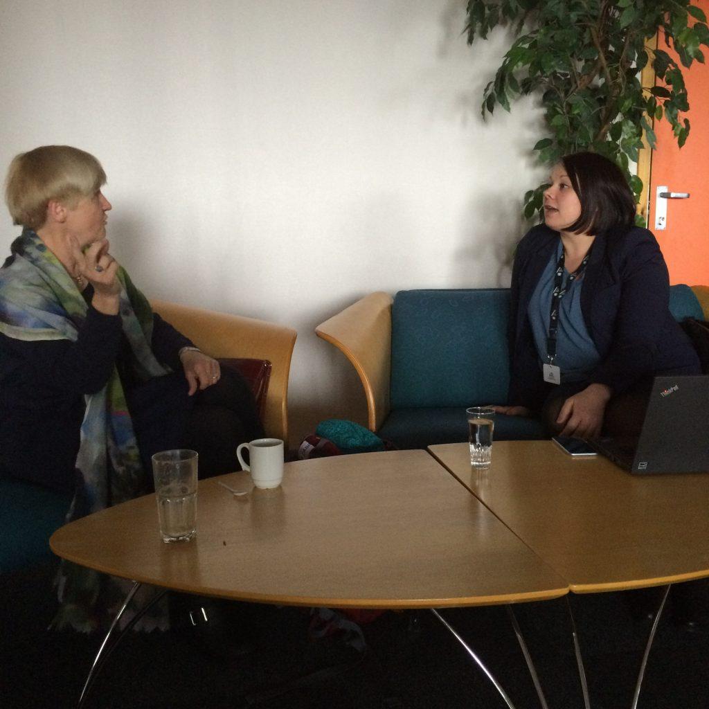 Prof. Karin Andreassen and Adm. Leader Ellen I. Hætta