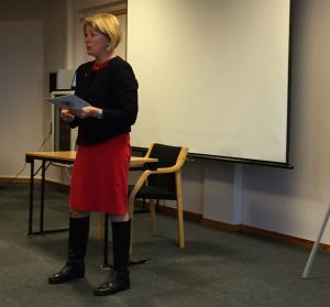Rektor Anne Husebekk åpnet konferansen.